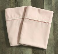 Vintage Cannon No Iron Percale King Set of 2 Pillowcases Pink