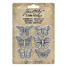Tim Holtz Idea-ology Collection Butterflies Metal Adornments th93689  2018
