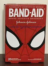 NIB Sealed Band-Aid Adhesive Bandages Spiderman Qty 20 Kids Johnson & Johnson