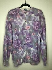 Made In Italy Vintage Angore Sweater Cardigan Large floral womens