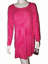 PATRICIA FIELD Pink Soft Size Medium Nylon Spandex Long Sleeve Dress