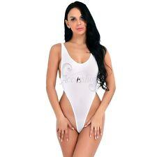 Sissy Women's One Piece Thong Bodysuit Swimwear High Cut Sheer Leotard Lingerie