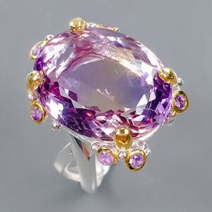 Classic Art 19x15 AAA gem Ametrine Ring Silver 925 Sterling  Size 8 /R178231