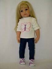 Für Götz Puppe Hannah Stehpuppe 46 - 50cm Puppenkleidung Kleidung Leggings Shirt
