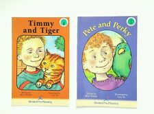 Hooked on Phonics Level 4 Chapter Books #1 #2 Timmy and Tiger Pete And Becky