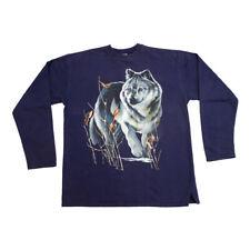 Lone Wolf Design Sweatshirt | Vintage 90s Jumper Retro Hipster