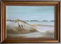 PRESTON Seascape Painting Signed Framed