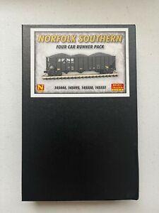 N Scale MICRO TRAINS 4 Car Runner Pack Norfolk Southern 100 ton hopper w/load