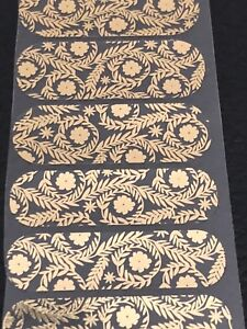 Jamberry Half Sheet - Seamless - Clear Floral Gold