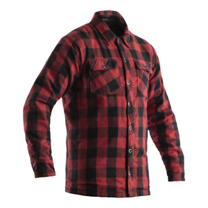 RST 2115 Lumberjack CE Mens Armoured Motorcycle Motorbike Shirt - Red Chequered