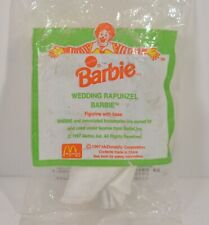 "Rare Foreign 1997 Wedding Rapunzel Barbie 4.25"" McDonald's Action Figure Doll"