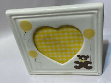 Cricket Vintage Photo Picture Nursery Childs Frame Teddy Bear Hand Painted Ivory