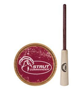 Strut Commander Ole Scratch Cherry Crystal Turkey Pot Call Hickory Striker