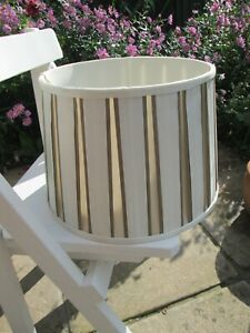LAURA ASHLEY Pleated Lampshade Taupe/Cream(off white) 12 inches across base