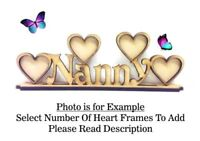 Wooden MDF Photo Frame, Mothers Day Gift Christmas Nan Nanny Birthday Gifts PL54