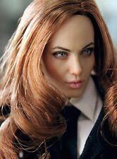 Custom Angelina Jolie 1/6 Scale Head Sculpt for Kumik Female Body