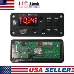 Car Speaker Module FM Radio USB TF Card Wireless Bluetooth 5.0 MP3 Decoder Board