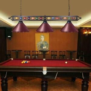 Metal Pool Table Ceiling Light Island Billiard Pendant Lamp Chandelier Lighting