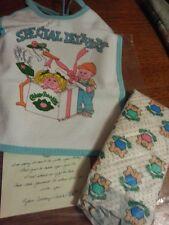 Vintage Cabbage Patch Kids Doll 1980's Bib & Diaper Gift Set