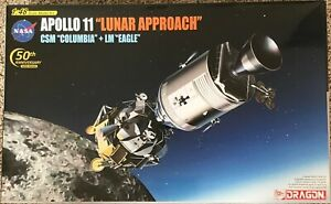 Dragon 11009 Apollo 11 Lunar Approach CSM Columbia + LM Eagle model kit 1/48