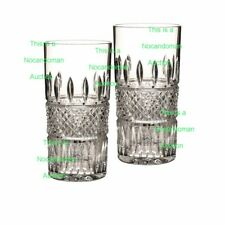 NEW IN BOX WATERFORD CRYSTAL IRISH LACE SET OF 4 HIBALL GLASSES HIGHBALL 156768