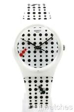 Swatch Originals LAVORANDO Ant-Themed Matte White Silicone Watch 34mm GW184 $60