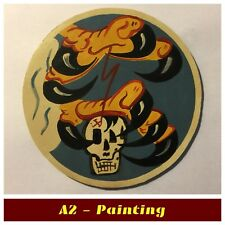 WW2 Hand Painted 351st Fighter Squadron Leather Patch