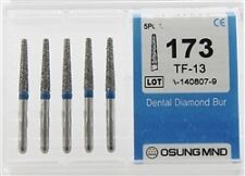 Dental Diamond Burs, Standard Grit Multi-Use, 5 Pcs/Pk [173TF-13]