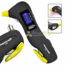 Digital Tire Gauge Tyre Air Pressure 5 in 1 Emergency Tool Maxcraft 60301 LCD