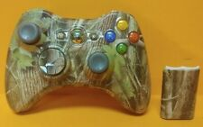Custom Skin Camo Outdoor Forest Microsoft Xbox 360 Wired Controller Tested RARE