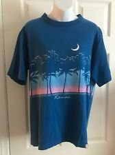 VTG 80s CRAZY SHIRT Kauai Hawaii Blue Broken in L USA