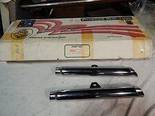White Brothers Porker 2 1/4 86-99 FXST FLST Softail Slip-on Exhaust Slash Cut