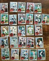 Lot of 26 Baseball Cards- 1984 TOPPS Traded Boston Red Sox Set Trading