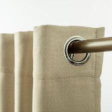 Elegant Linen Eyelet Curtain Grommet Curtain Textured Fabric Room Darkening
