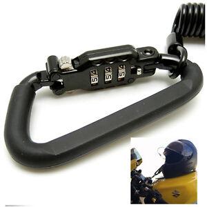 Universal Motorcycle Helmet Lock Helmet Combination Lock with T-Bar Rubber