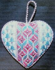 4x Needlepoint Pattern  Our Heart: 2008-2009-2010-2011/Canvas/Thread/Beads-HX40