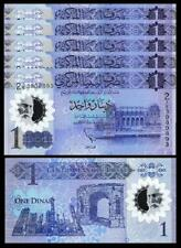 Libya 1 Dinar 2019 , UNC , 5 Pcs LOT , Consecutive, POLYMER , P-New, NEW DESIGN