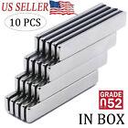 10PCS N52 Strong Neodymium Magnets Rare Earth Lifting Magnets 60x10x3mm