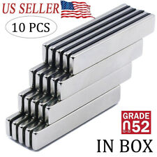 10PCS N52 Strong Neodymium Magnets Rare Earth Lifting Magnets 60x10x3mm