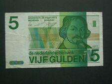 **** Crisp 1973 Netherlands 5 Gulden   'VF' + Banknote