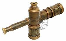 "Antique Brass Maritime Telescope 18"" Victorian Marine Nautical Spyglass Scope"