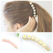 2Pcs Plastic Daisy Flowers Banana Clips Vertical Clip Hair Accessories for Women