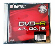 EMTEC DVD-R DVD REGISTRABILE -R 4.7 GB 16X JEWEL CASE SINGOLO