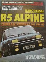 L'AUTO JOURNAL 1976 6 RENAULT 5 ALPINE MERCEDES 450 SEL 6.9 GP AFRIQUE DU SUD