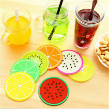 Silicone Fruits Coffee Tea Cup Cushion Holder Coasters Drink Placemat Mat Pad