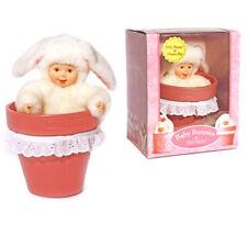 """Anne Geddes HASE Baby PUPPE KANINCHEN 15 cm """"BABY BUNNY IN FLOWER POT"""""""