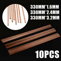 10pcs Mild Steel TIG Welding Filler Rods Wire 1.6/2.4/3.2mm Gas Welding CCMS