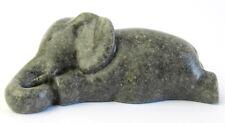 Quintessence (UK) Sleepy Elephant Pen Holder Stone Resin Figurine GREY