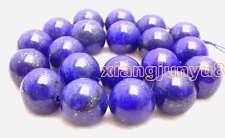 "SALE Big 20mm Round Blue natural lapis lazuli loose beads loose strand 15""-l628"