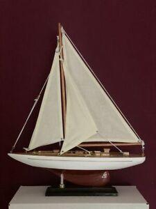 Segelyacht Segelschiff Segelboot Modellboot Holzschiff  Länge 35cm Höhe 44 cm